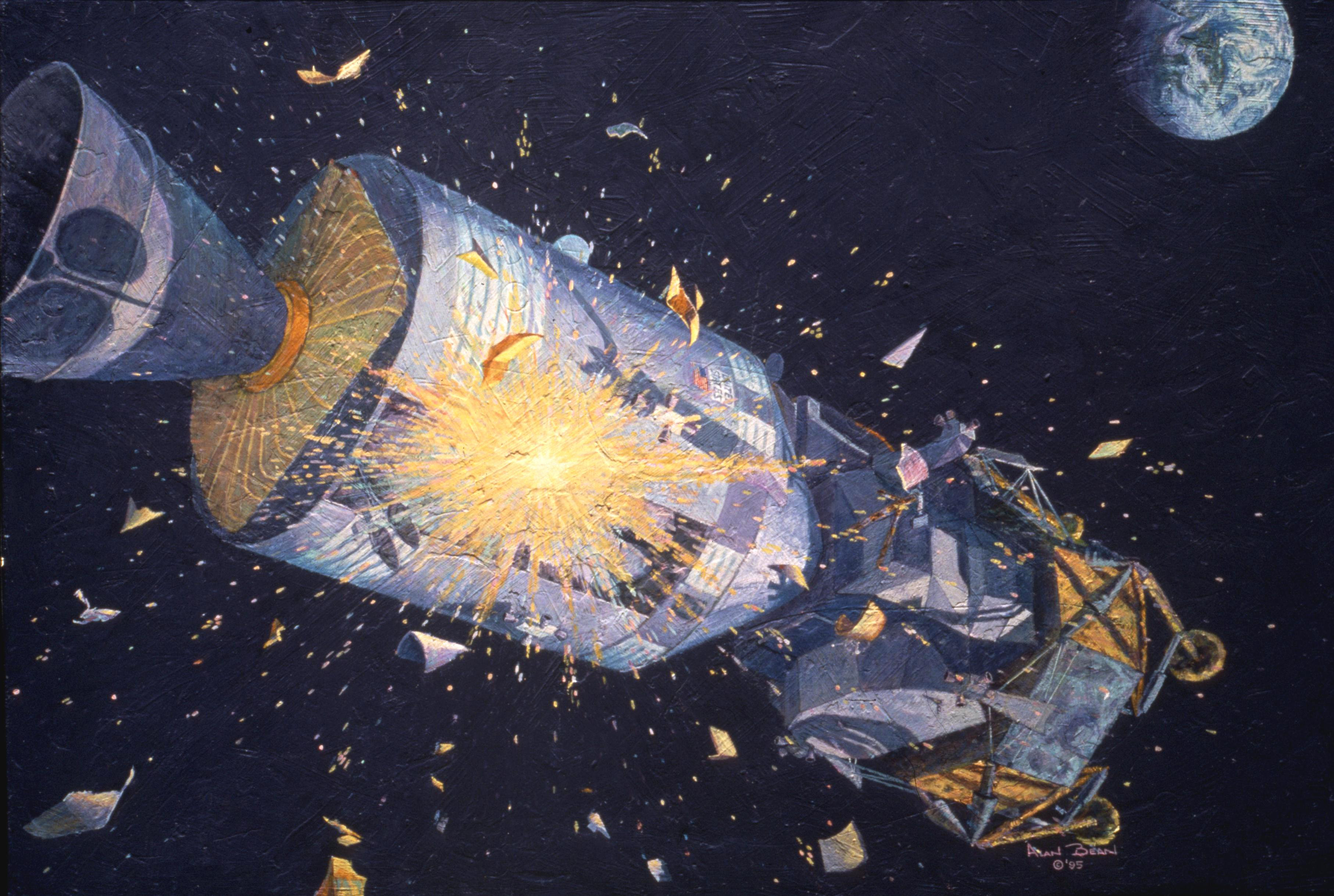 what caused the explosion on apollo 13